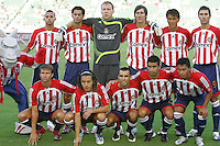 Team CD Chivas USA starting XI. CD Chivas USA beat Real Salt Lake 1-0 in a MLS game at the Home Depot Center in Carson, California, Sunday, August 26, 2007.