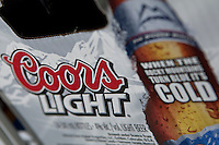 Coors light beer logo is seen on a beer box on display in a convenient store in Quebec City February 26, 2009