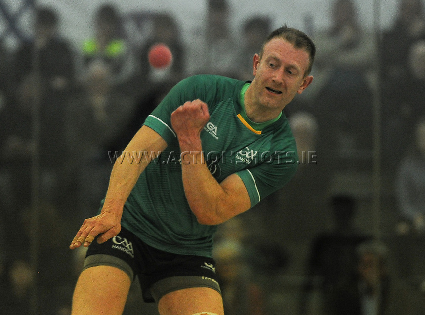 07/10/2017; Myclubshop.ie All-Ireland Handball 60x30 Championship, Men&rsquo;s Intermediate Singles Final - Martin Mulkerrins (Galway) vs JP O&rsquo;Connor (Limerick); GAA Handball Center, Croke Park, Dublin;<br /> JP O'Connor, Limerick<br /> Photo Credit: actionshots.ie/Tommy Grealy