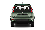 Straight rear view of 2016 Fiat Panda-4X4 Pop 5 Door Hatchback Rear View  stock images