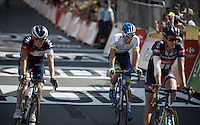 Michael Matthews (AUS/Orica-GreenEDGE) finishes 17th in Muret, a stage he hoped to compete for the win beforehand... but a stage 3 crash made it hard for him to fight back from injuries.<br /> <br /> stage 13: Muret - Rodez<br /> 2015 Tour de France