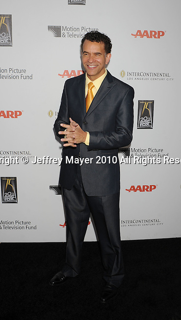 """LOS ANGELES, CA. - May 01: Brian Stokes Mitchell arrives at the 5th Annual """"A Fine Romance"""" Benefit at 20th Century Fox Studios on May 1, 2010 in Los Angeles, California."""