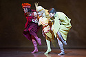 London, UK. 22.11.2013. Stuttgart Ballet present THE TAMING OF THE SHREW at Sadler's Wells. Picture shows: Roman Novitzky (Hortensio), Ozkan Ayik (Gremio) and David Moore (Lucentio). Photograph © Jane Hobson.