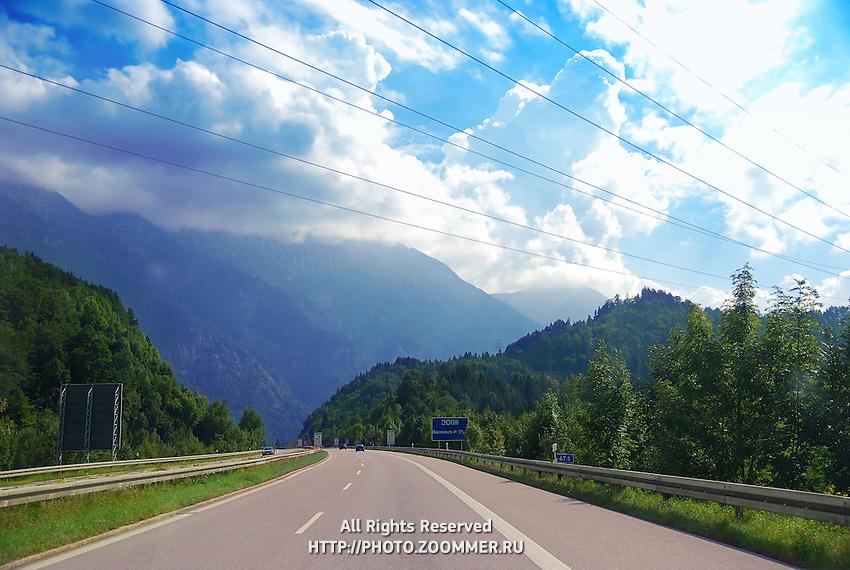 Highway in Austrian Alps