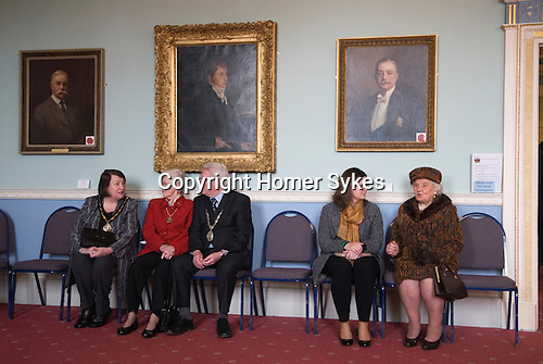 Hercules Clay  Penny Loaf Day. Guests of the Mayor of Newark Tom Bickley for the reception to start.<br />