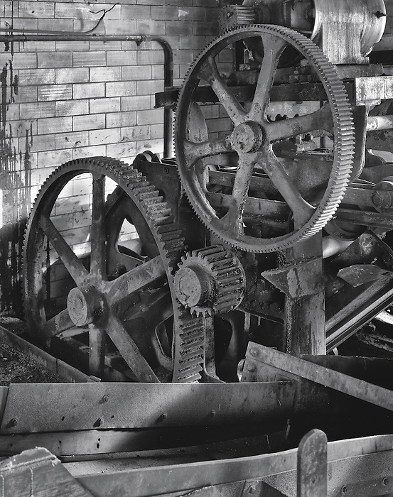 Gears at an abandoned coal power plant