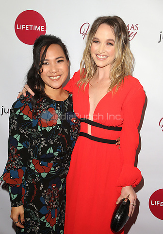"LOS ANGELES, CA - NOVEMBER 7: Nanea Miyata, Kelley Jakle, at Premiere of Lifetime's ""Christmas Harmony"" at Harmony Gold Theatre in Los Angeles, California on November 7, 2018. Credit: Faye Sadou/MediaPunch"