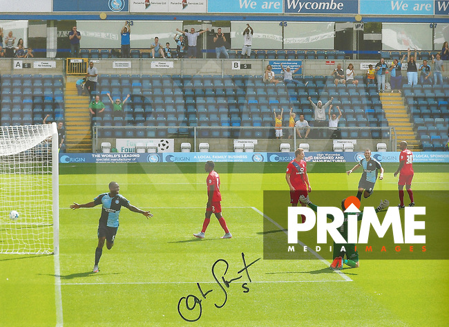 Anthony Stewart of Wycombe Wanderers Signed Photos at Adams Park, High Wycombe, England on 29 April 2016. Photo by Andy Rowland.