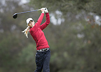 Stanford, CA - February 15, 2014.  Day 2 of the Stanford Women's Golf Team at the Peg Barnard Invitational at Stanford Golf Course.