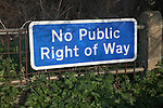Sign No Public Right of Way