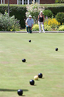 Crown Green Bowling game in Derbyshire