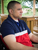 While serving in Afghanistan as a machine gun operatorin the marines in September 2009 the humvee Marine Corporal Joshua Himan was traveling in was hit by an explosive device. The 27 year old Himan was paralyzed from the waist down.  <br /> Before deploying to a war zone, like many soldiers Himan would have preferred to die on the battlefield than come home disabled. After spending18 months in rehabilitation at Walter Reed Medical Center Himan says he's happy to be alive.