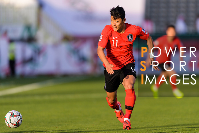 Hwang Heechan of South Korea in action during the AFC Asian Cup UAE 2019 Round of 16 match between South Korea (KOR) and Bahrain (BHR) at Rashid Stadium on 22 January 2019 in Dubai, United Arab Emirates. Photo by Marcio Rodrigo Machado / Power Sport Images