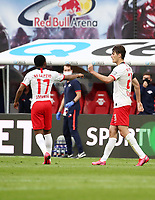 27th May 2020, Red Bull Arena, Leipzig, Germany; Bundesliga football, RB Leipzig versus Hertha Berlin;   Patrick Schick (21, RB Leipzig) celebrates his goal for 2:1