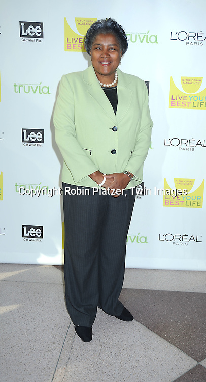 "Donna Brazile arriving at O, The Oprah Magazine's  Celebration of  it's 10th Anniversay at the ""Live Your Best Life"" event at The Jacob Javits Center on May 8, 2010."