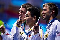 XU Jiayu CHN gold medal, GREVERS Matt USA silver medal, MURPHY Ryan USA bronze medal<br /> swimming<br /> Men's 100m backstroke final<br /> day 12 25/07/2017 <br /> XVII FINA World Championships Aquatics<br /> Photo © Giorgio Perottino/Deepbluemedia/Insidefoto