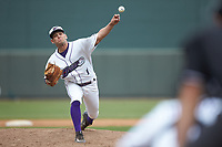 Winston-Salem Dash relief pitcher Kyle Kubat (1) delivers a pitch to the plate against the Salem Red Sox at BB&T Ballpark on April 22, 2018 in Winston-Salem, North Carolina.  The Red Sox defeated the Dash 6-4 in 10 innings.  (Brian Westerholt/Four Seam Images)