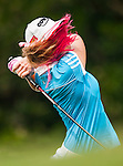 TAOYUAN, TAIWAN - OCTOBER 27:  Paula Creamer of USA tees of on the 8th tee during the day three of the Sunrise LPGA Taiwan Championship at the Sunrise Golf Course on October 27, 2012 in Taoyuan, Taiwan.  Photo by Victor Fraile / The Power of Sport Images