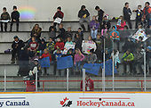 WINKLER, MB - Nov 5 2019: Alberta vs. Saskatchewan during the 2019 National Women's Under 18 Championship at the Centennial Arena in Winkler, Manitoba, Canada. (Photo by Matthew Murnaghan/Hockey Canada Images)