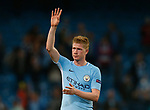 Kevin De Bruyne of Manchester City applauds the fans during the Champions League Group F match at the Emirates Stadium, Manchester. Picture date: September 26th 2017. Picture credit should read: Andrew Yates/Sportimage