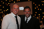 Celebrity Golf @ Golf Live.Gala Dinner.Joe Miller & George Gros..Celtic Manor Resort.11.05.13.©Steve Pope
