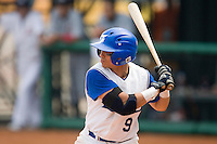 19 August 2007: Infielder #9 Yann Dal Zotto is seen at bat during the Japan 4-3 victory over France in the Good Luck Beijing International baseball tournament (olympic test event) at the Wukesong Baseball Field in Beijing, China.