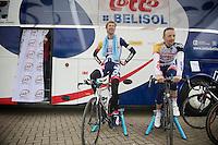 Tour of Belgium 2013.stage 3: iTT..Jurgen Van de Walle (BEL) & Dennis Vanendert (BEL) warming down after the effort.