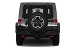 Straight rear view of 2017 JEEP Wrangler-Unlimited Rubicon-Hard-Rock 5 Door SUV Rear View  stock images