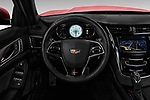 Car pictures of steering wheel view of a 2019 Cadillac CTS-V - 4 Door Sedan Steering Wheel