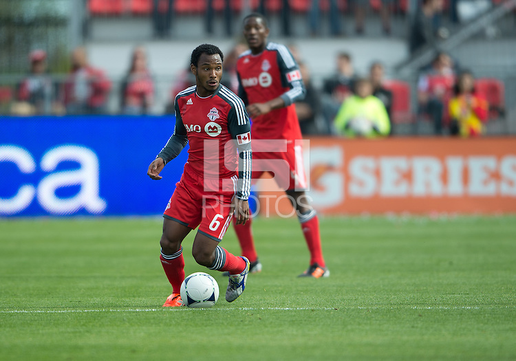 05 May 2012: Toronto FC midfielder Julian de Guzman #6 in action during an MLS game between DC United and Toronto FC at BMO Field in Toronto..D.C. United won 2-0.
