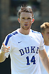28 August 2016: Duke's Ryan Thompson. The Duke University Blue Devils hosted the University of North Carolina Asheville Bulldogs at Koskinen Stadium in Durham, North Carolina in a 2016 NCAA Division I Men's Soccer match. Duke won the game 5-1.