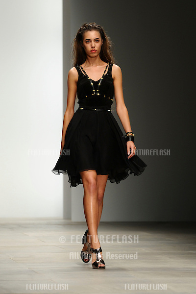 Amber Le Bon on the catwalk at the Felder and Felder Spring Summer 2012 show at London Fashion Week, London