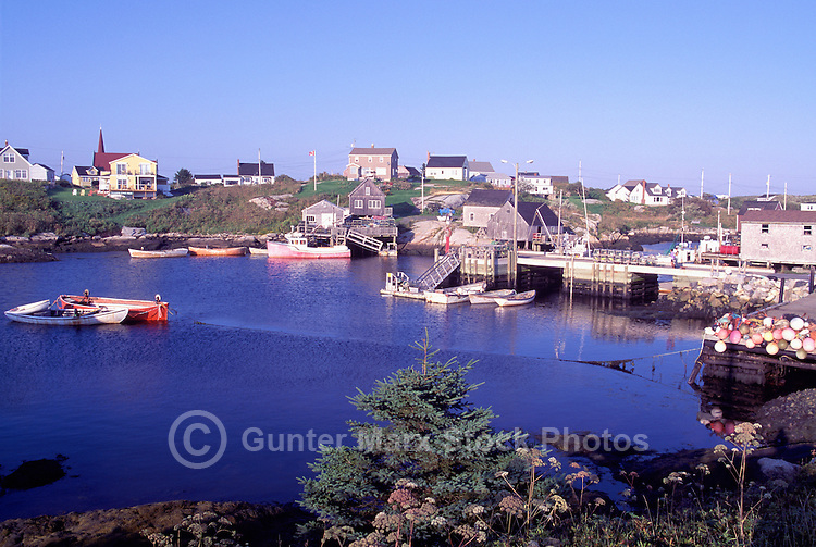 Peggys Cove (Peggy's Cove), Nova Scotia, Canada - Fishing Village and Port on Atlantic Ocean East Coast