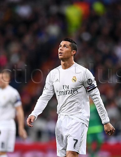 12.04.2016. Madrid, Spain. UEFA Champions League, quarterfinal second leg. Real Madrid versus VfL Wolfsburg.  Cristiano Ronaldo (Real Madrid)