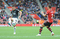 Burnley's Ashley Westwood under pressure from Southampton's Cedric Soares<br /> <br /> Photographer Kevin Barnes/CameraSport<br /> <br /> The Premier League - Southampton v Burnley - Sunday August 12th 2018 - St Mary's Stadium - Southampton<br /> <br /> World Copyright &copy; 2018 CameraSport. All rights reserved. 43 Linden Ave. Countesthorpe. Leicester. England. LE8 5PG - Tel: +44 (0) 116 277 4147 - admin@camerasport.com - www.camerasport.com