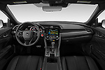 Stock photo of straight dashboard view of 2020 Honda Civic-Hatchback Sport-Touring 5 Door Hatchback Dashboard