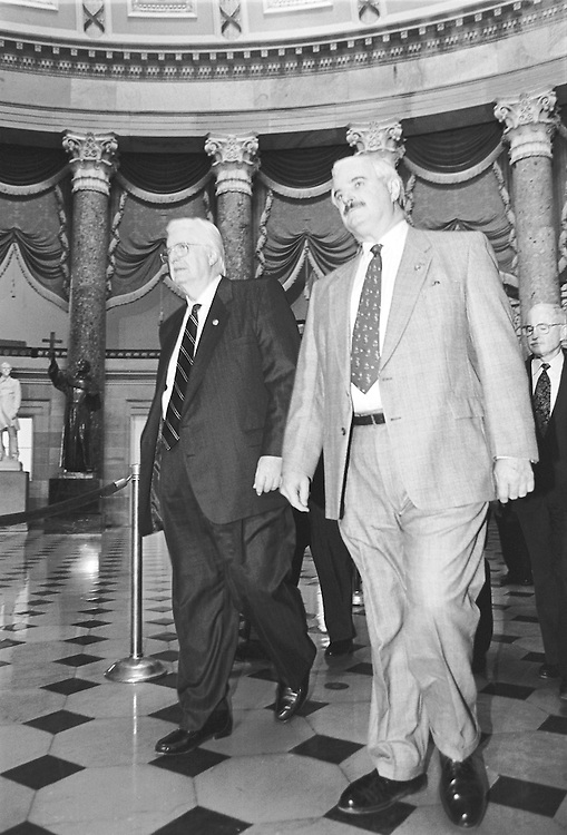 Rep. Henry Hyde, R-Ill., left, and former Capitol Police Chief Jim Varey