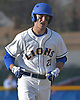 Greg Tsouprakos #23, West Islip shortstop, trots around the bases after connecting for an opposite field solo home run in the bottom of the sixth inning of a Suffolk County varsity baseball game against Bellport at West Islip High School on Wednesday, April 12, 2017. Bellport won by a score of 6-2.