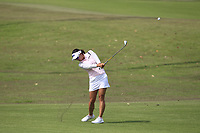 Jin Young Ko (KOR) in action on the 1st during Round 1 of the HSBC Womens Champions 2018 at Sentosa Golf Club on the Thursday 1st March 2018.<br /> Picture:  Thos Caffrey / www.golffile.ie<br /> <br /> All photo usage must carry mandatory copyright credit (&copy; Golffile | Thos Caffrey)