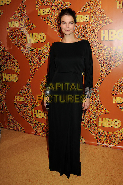 JEANNE TRIPPLEHORN.HBO's 2010 67th Golden Globe Awards Post Party held at the Beverly Hilton Hotel, Beverly Hills, California, USA..January 17th, 2009.globes full length black long maxi dress sleeved sleeves cuffs silver bracelets .CAP/ADM/BP.©Byron Purvis/Admedia/Capital Pictures