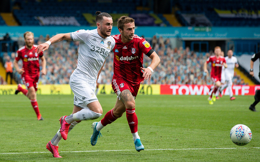 Leeds United's Jack Harrison vies for possession with Fulham's Joe Bryan<br /> <br /> Photographer Alex Dodd/CameraSport<br /> <br /> The EFL Sky Bet Championship - Leeds United v Fulham - Wednesday 24th June 2020 - Elland Road - Leeds<br /> <br /> World Copyright © 2020 CameraSport. All rights reserved. 43 Linden Ave. Countesthorpe. Leicester. England. LE8 5PG - Tel: +44 (0) 116 277 4147 - admin@camerasport.com - www.camerasport.com<br /> <br /> Photographer Alex Dodd/CameraSport<br /> <br /> The Premier League - Newcastle United v Aston Villa - Wednesday 24th June 2020 - St James' Park - Newcastle <br /> <br /> World Copyright © 2020 CameraSport. All rights reserved. 43 Linden Ave. Countesthorpe. Leicester. England. LE8 5PG - Tel: +44 (0) 116 277 4147 - admin@camerasport.com - www.camerasport.com