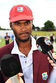 9th December 2017, Seddon Park, Hamilton, New Zealand; International Test Cricket, 2nd Test, Day 1, New Zealand versus West Indies;  West Indies captain Kraigg Brathwaite