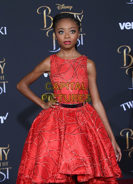 02 March 2017 - Hollywood, California - Skai Jackson. Disney's &quot;Beauty and the Beast' World Premiere held at El Capitan Theatre.   <br /> CAP/ADM/FS<br /> &copy;FS/ADM/Capital Pictures
