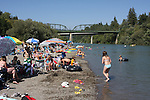 Main Beach in Guerneville in July, Russian River