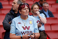 An Aston Villa fan during the Premier League match between Arsenal and Aston Villa at the Emirates Stadium, London, England on 22 September 2019. Photo by Carlton Myrie / PRiME Media Images.