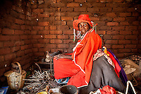 Witchdoctor Ester Mpucussa (62) in her house.