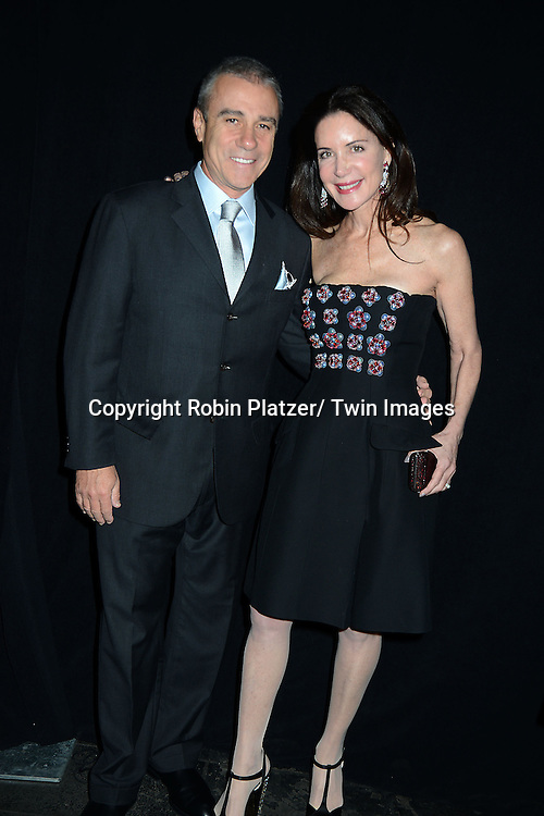 Lois Robbins and Andrew Zaro  attends the 2013 Whitney Gala & Studio party honoring artist Ed Ruscha on October 23, 2013 at Skylight at Moynihan Station in New York City.