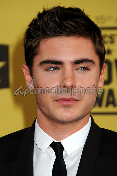 15 January 2010 - Hollywood, California - Zac Efron. 15th Annual Critics' Choice Movie Awards - Arrivals held at the Hollywood Palladium. Photo Credit: Byron Purvis/AdMedia