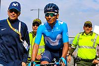 MEDELLIN - COLOMBIA, 13-02-2019: Nairo Quintana (COL), Movistar Team, durante la segunda etapa del Tour Colombia 2.1 2019 con un recorrido de 150.5 Km, que se corrió entre La Ceja Canadá - Carmen de Viboral - Rionegro - Canadá - La Ceja. / Nairo Quintana (COL), Movistar Team, during the second stage of 150.5 km of Tour Colombia 2.1 2019 that ran through La Ceja Canada - Carmen de Viboral - Rionegro - Canada - La Ceja.  Photo: VizzorImage / Anderson Bonilla / Cont