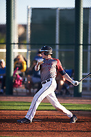 Austin Schlagel (9) of La Cueva High School in Albuquerque, New Mexico during the Baseball Factory All-America Pre-Season Tournament, powered by Under Armour, on January 13, 2018 at Sloan Park Complex in Mesa, Arizona.  (Zachary Lucy/Four Seam Images)